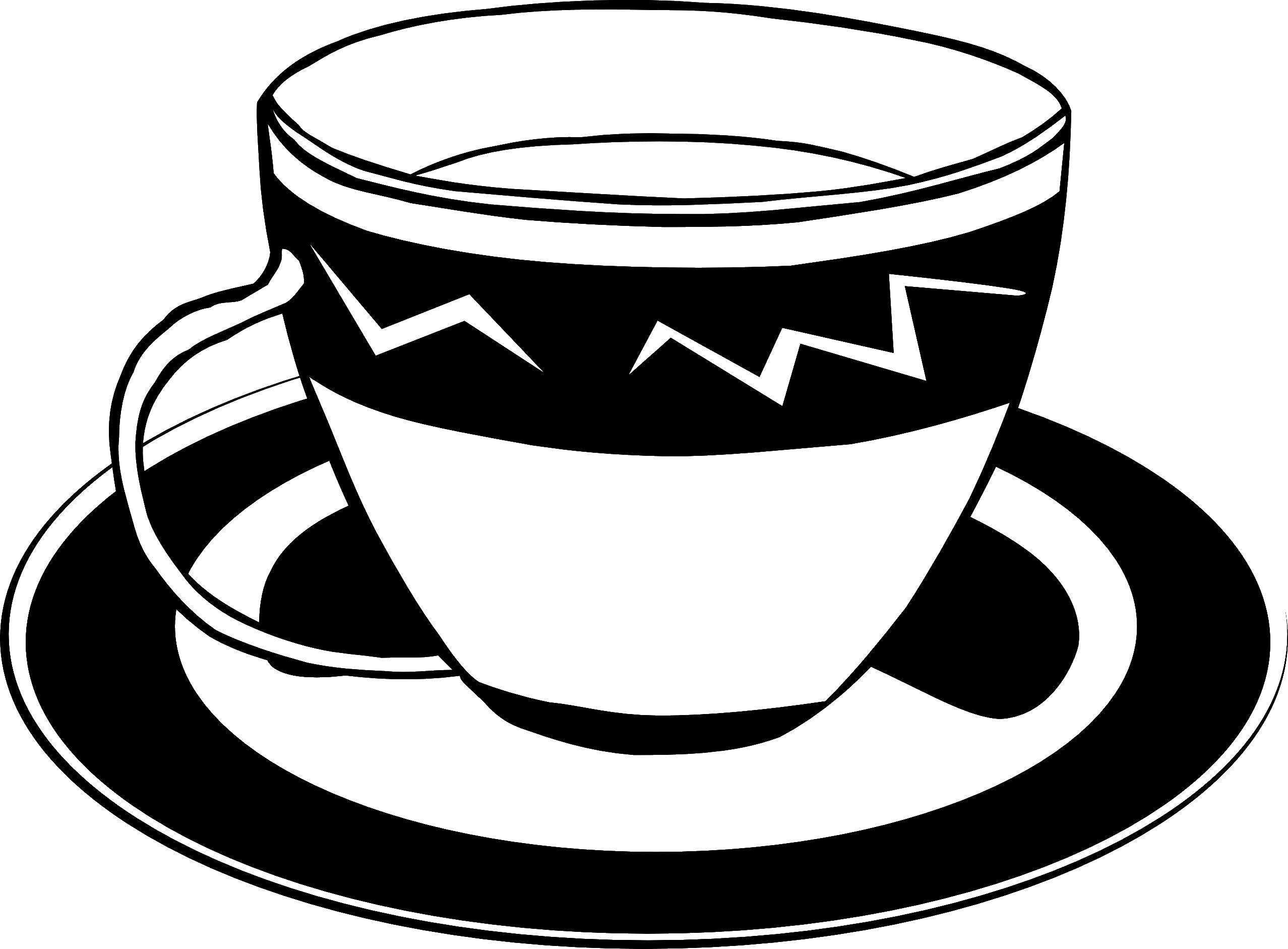 Раскраска Кружка с чашкой Скачать кружка.  Распечатать ,посуда,