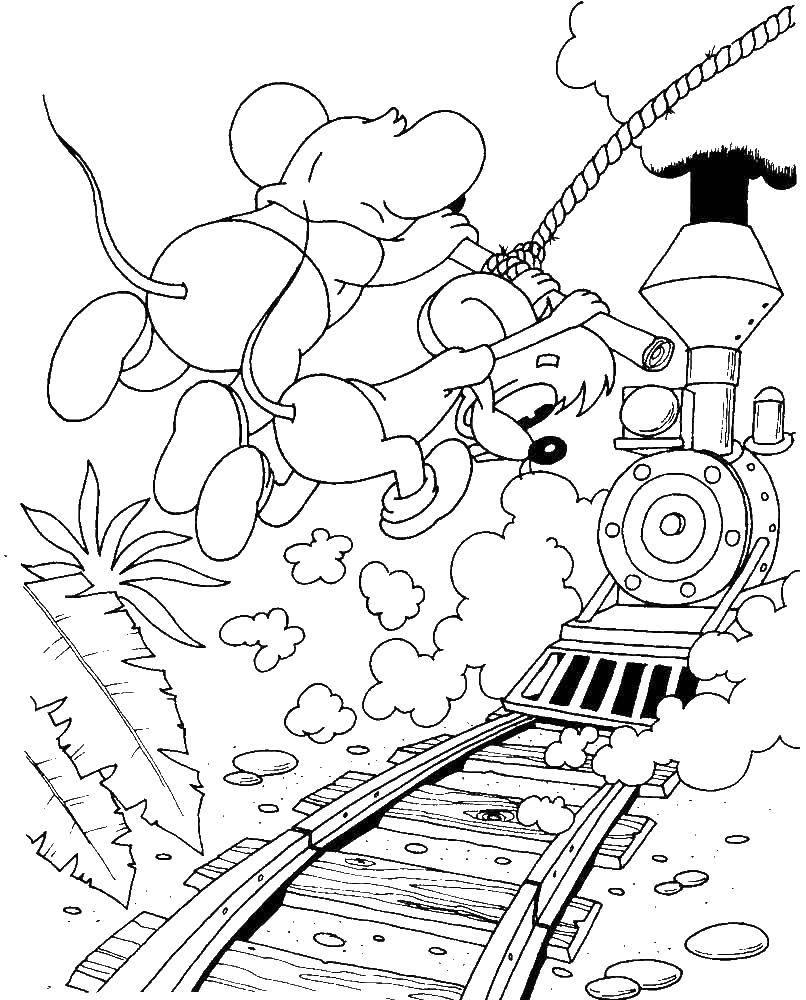 Раскраска Мыши Скачать Кот, леопольд.  Распечатать ,раскраски кот леопольд,