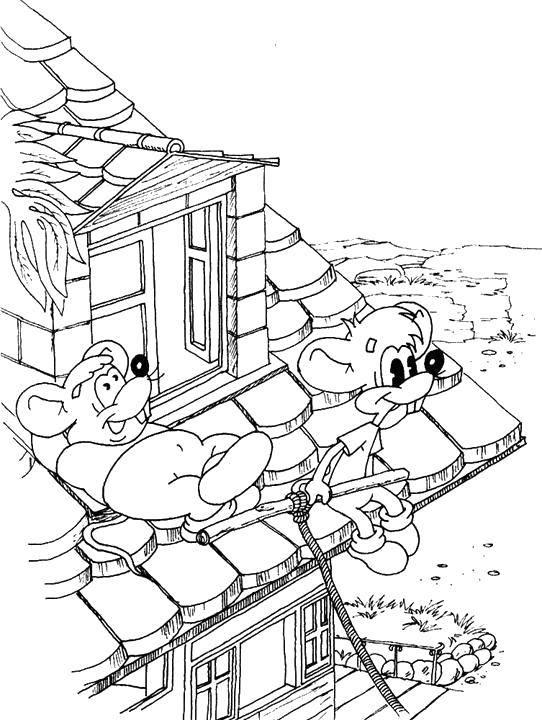 Раскраска Мышата из кота леопольда  Скачать Персонаж из мультфильма, Кот Леопольд, мышки.  Распечатать ,раскраски кот леопольд,