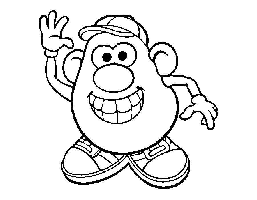 Раскраска Мистер картофельная голова Скачать ,МИСТЕР КАРТОФЕЛЬНАЯ ГОЛОВА,.  Распечатать