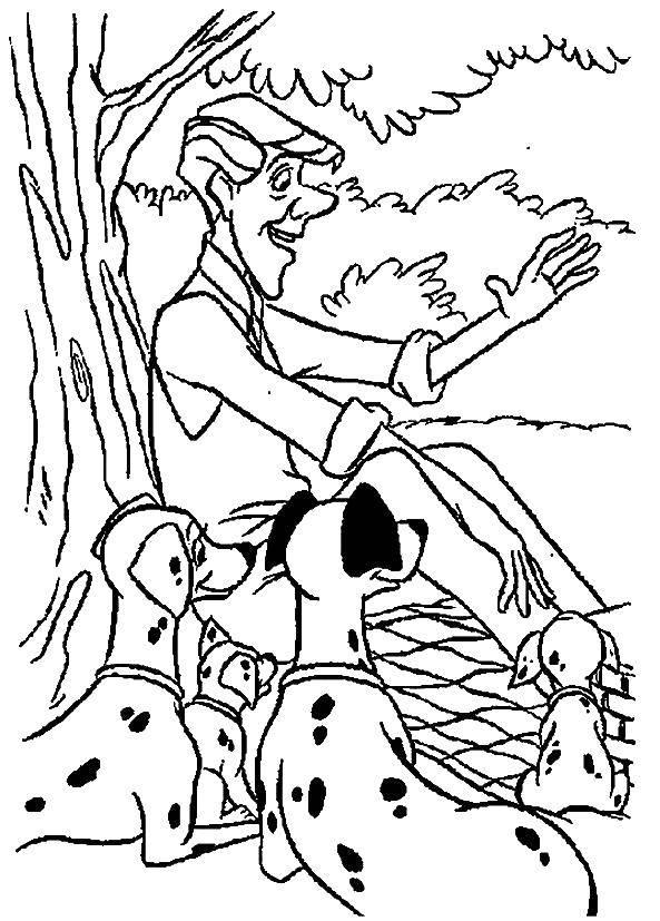 Раскраска 101 далматинец Скачать Белоснежка, Жасмин, Золушка, Ариэль.  Распечатать ,Принцессы,