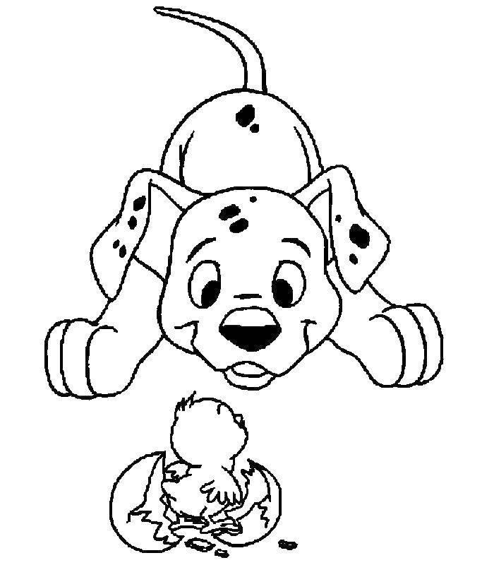 Раскраска 101 далматинец Скачать ,семья, готовка,.  Распечатать
