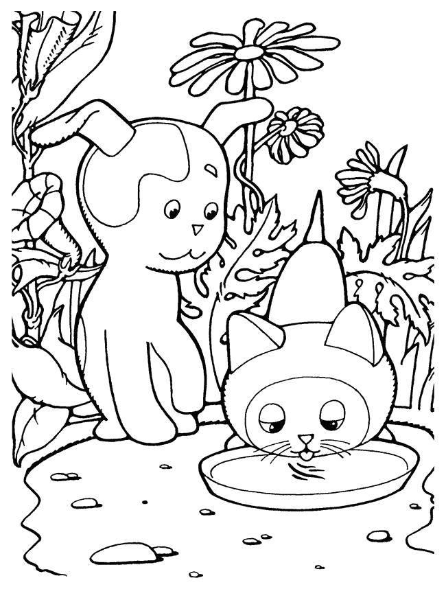 Раскраска котенок гав Скачать Антистресс.  Распечатать ,раскраски антистресс,