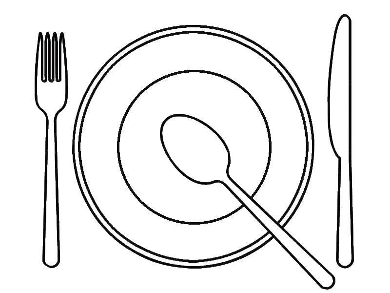 Раскраска Тарелка Скачать тарелка.  Распечатать ,посуда,