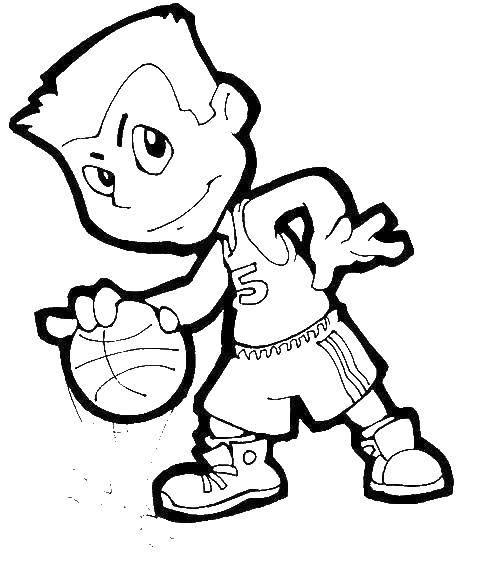 Название: Раскраска Мальчик с мячом. Категория: спорт. Теги: мальчик, мяч.