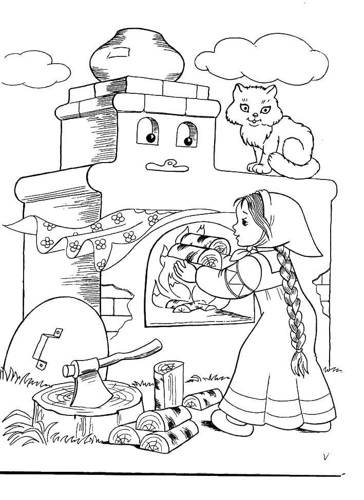 Раскраска гуси лебеди Скачать ,101 далматинец, Дисней, мультфильм,.  Распечатать