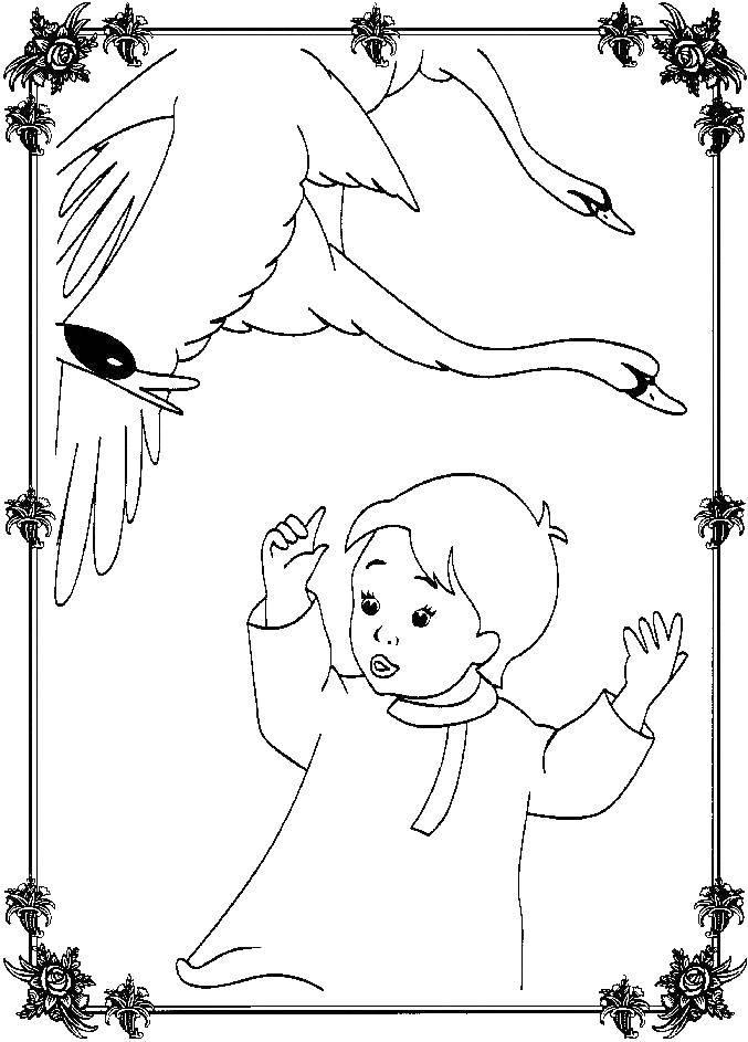 Раскраска гуси лебеди Скачать Спорт, игра, мяч, футбол, персонаж из мультфильма, Гуфи.  Распечатать ,спорт,