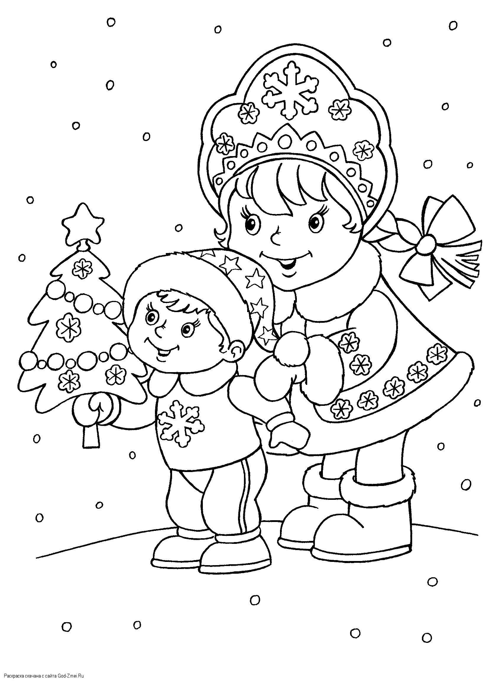 Раскраска новый год Скачать ,Парк Юрского периода,.  Распечатать