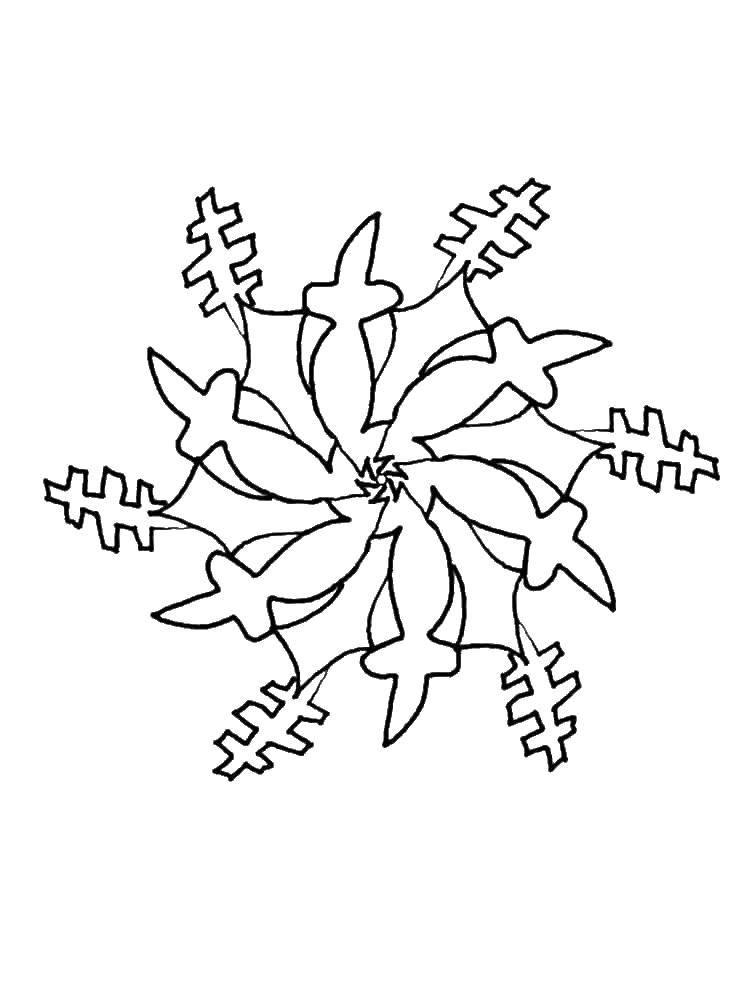 Раскраска снежинки Скачать рождество, гринч.  Распечатать ,рождество,