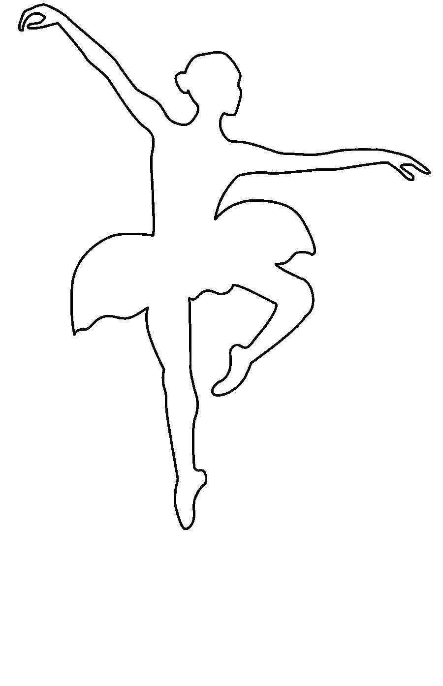 Раскраска Контур балерины Скачать Балерина, балет.  Распечатать ,балерина,