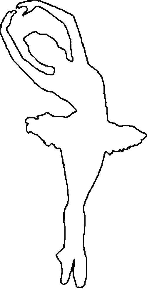 Раскраска Силуэт балерины Скачать ,Балерина, балет,.  Распечатать