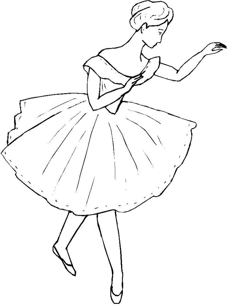 Раскраска балерина Скачать принцессы, Дисней, портреты.  Распечатать ,Принцессы,