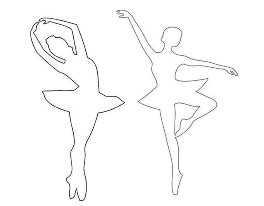 Раскраска Контур балерины Скачать ,Балерина, балет, танцы,.  Распечатать