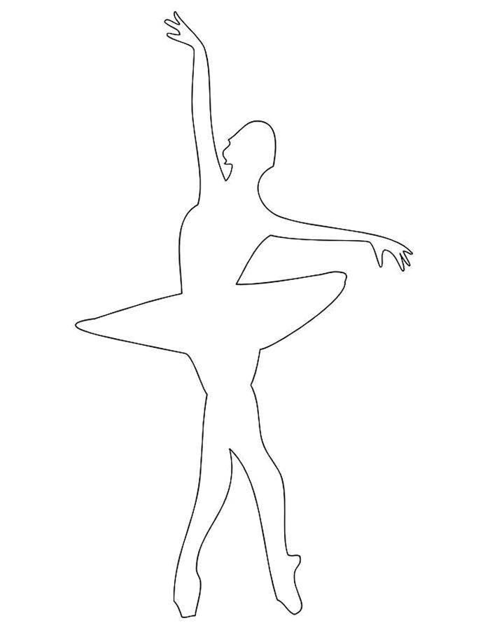 Раскраска Контур балерины Скачать Балерина, балет, танцы.  Распечатать ,балерина,