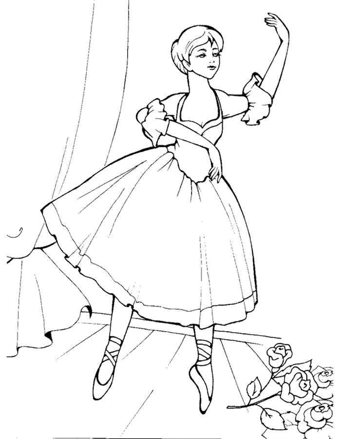 Раскраска балерина Скачать русалка, хвост, бусы.  Распечатать ,раскраски,