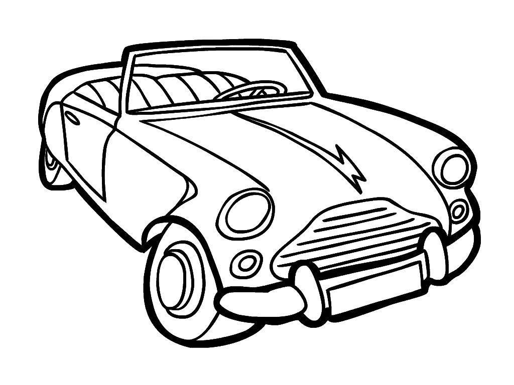 Раскраска Старая машина. Скачать Транспорт, машина.  Распечатать ,транспорт,