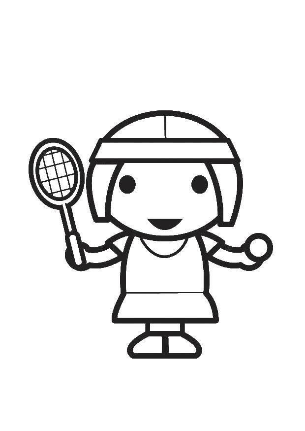 Раскраска теннис Скачать ,монстры, машины, джипы,.  Распечатать
