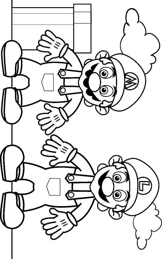 Раскраска Супер марио Скачать Супер Марио.  Распечатать ,баскетбол,