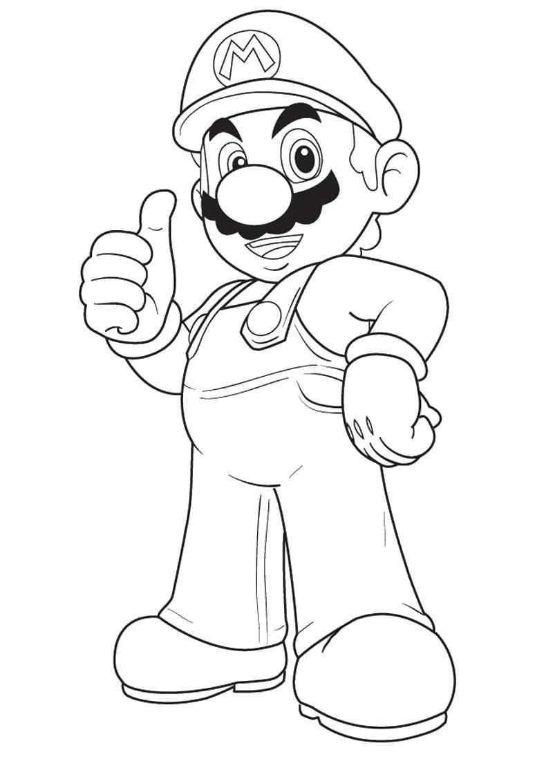 Раскраска Супер марио Скачать Супер Марио, мяч.  Распечатать ,Персонаж из игры,