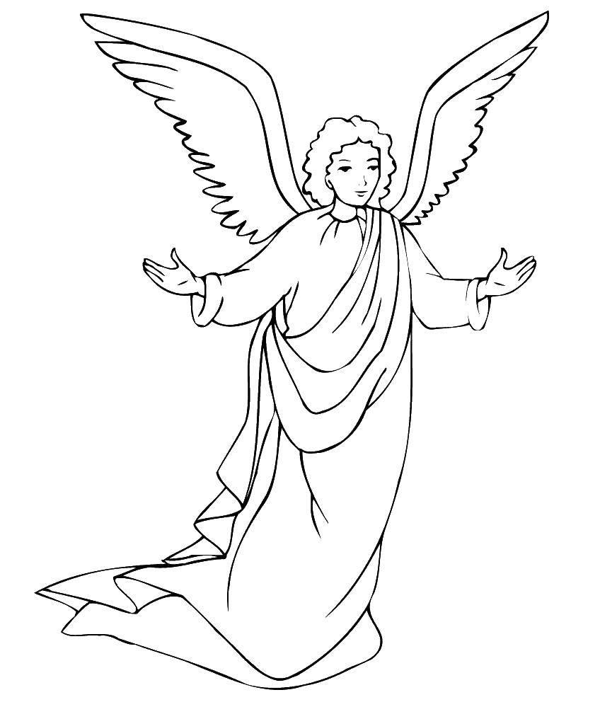Раскраска ангелы Скачать Ниндзя, воин.  Распечатать ,ниндзя,