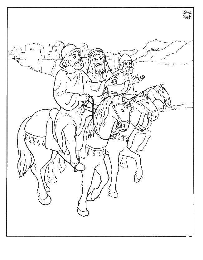 Раскраска Люди на конях Скачать кони, люди.  Распечатать ,Люди,