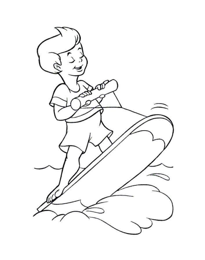 Раскраска Водный спорт Скачать Отдых, дети, вода, веселье.  Распечатать ,отдых,