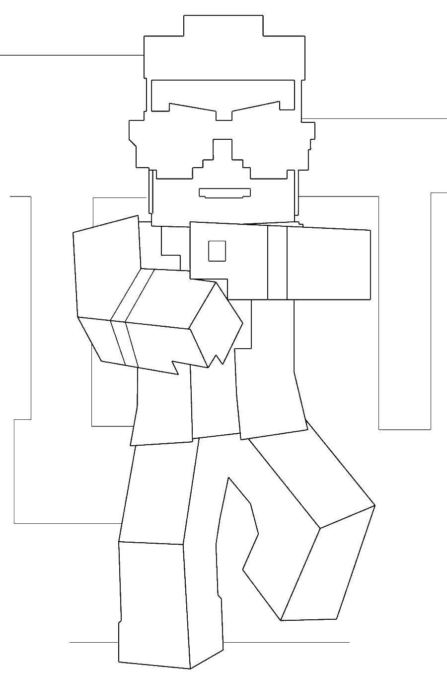 Раскраска Лего человек Скачать лего, человек.  Распечатать ,Лего,