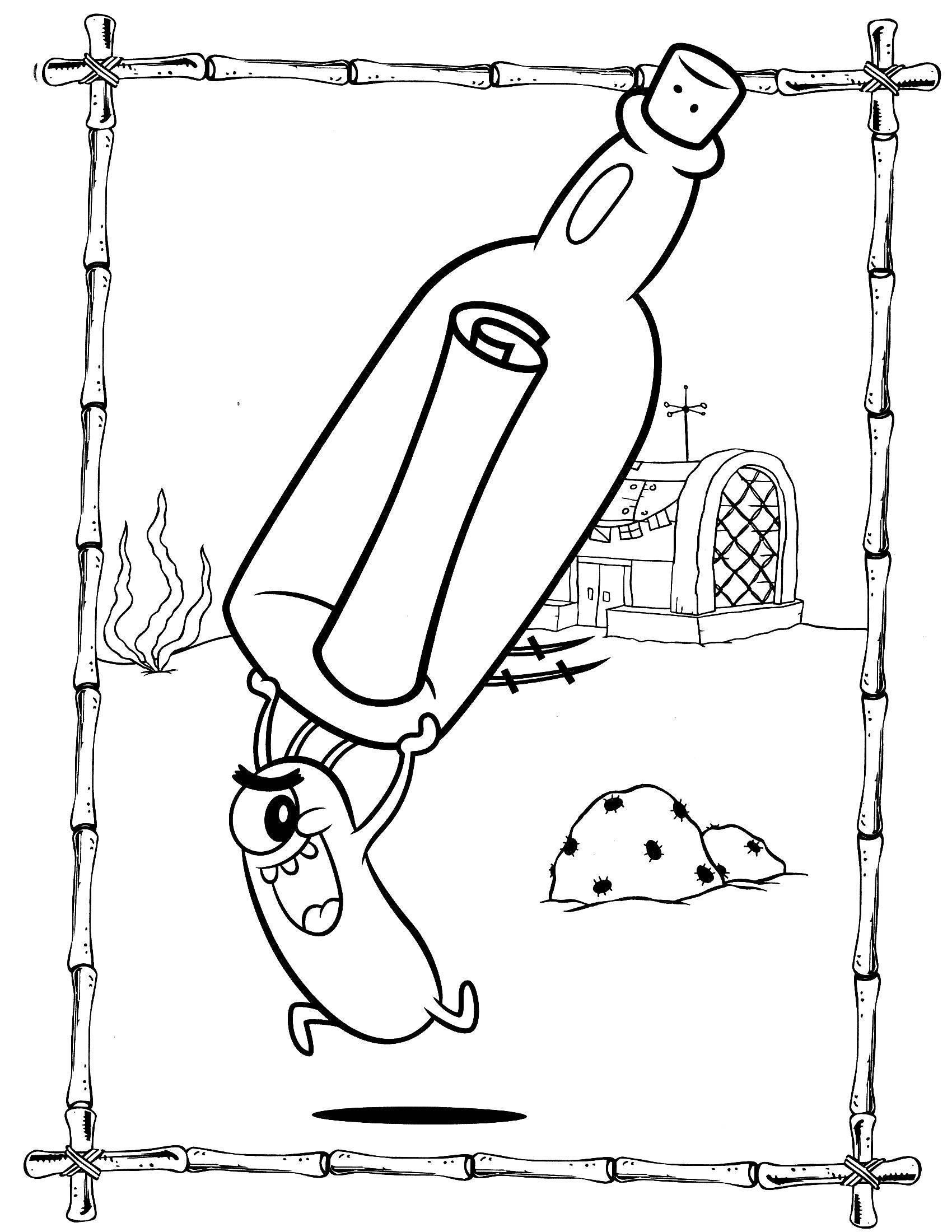 Раскраска Планктон украл формулу крабсбургеров Скачать Персонаж из мультфильма, Спанч Боб, Губка Боб, Планктон.  Распечатать ,Персонаж из мультфильма,