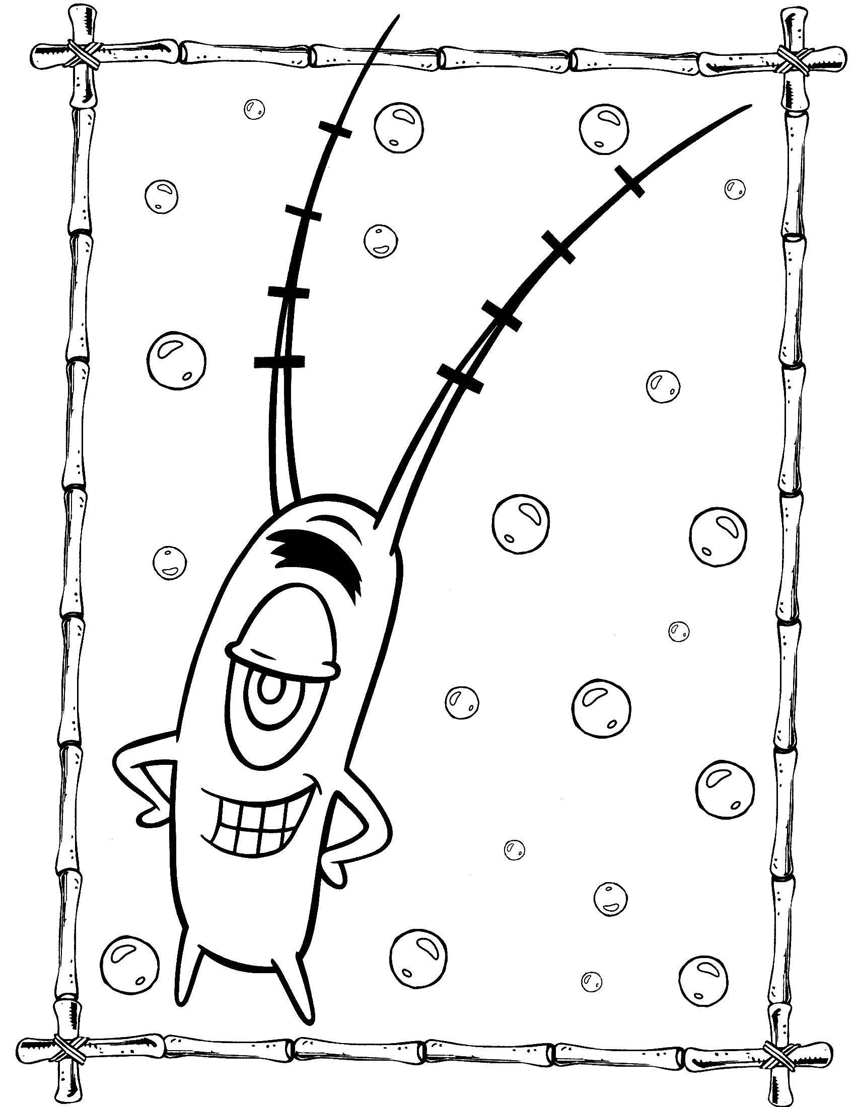 Раскраска Спанч Боб Скачать контур, мишка.  Распечатать ,Контур медведя для вырезания,