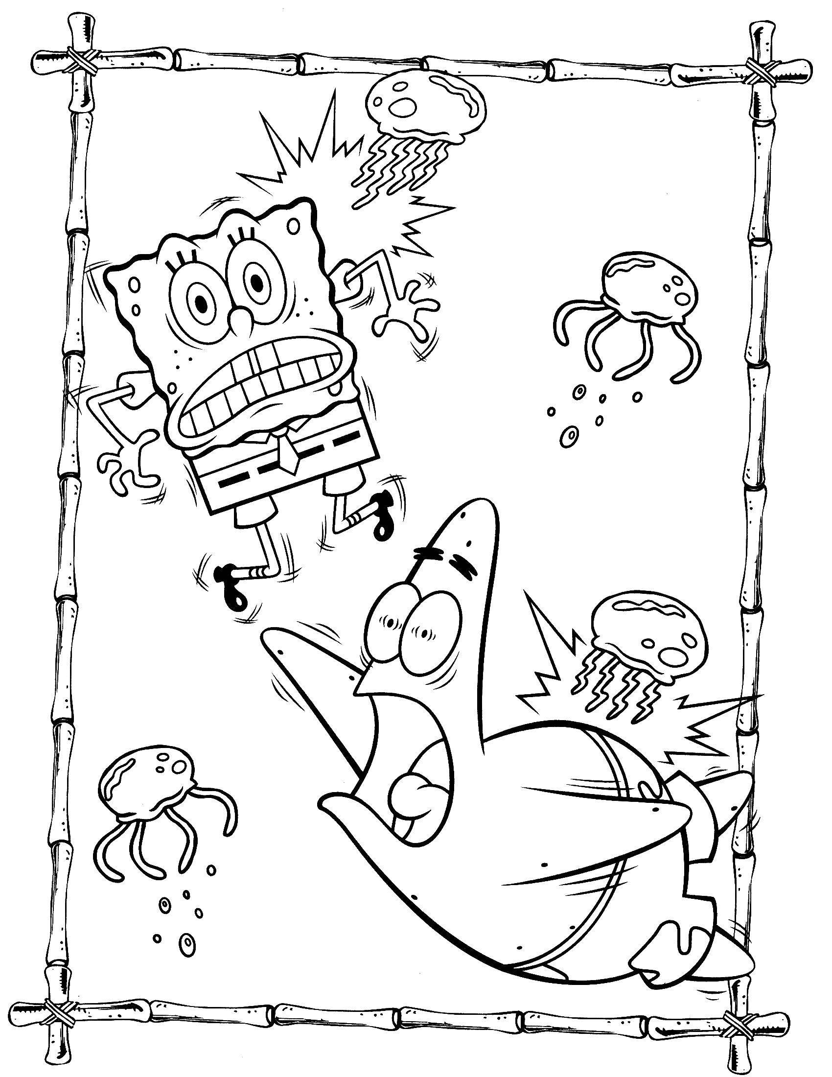 Раскраска Спанч Боб Скачать животные, собачка, Рождество.  Распечатать ,животные,