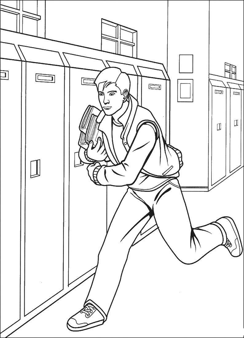 Раскраска Питер паркер Скачать человек паук, супергерои.  Распечатать ,человек паук,