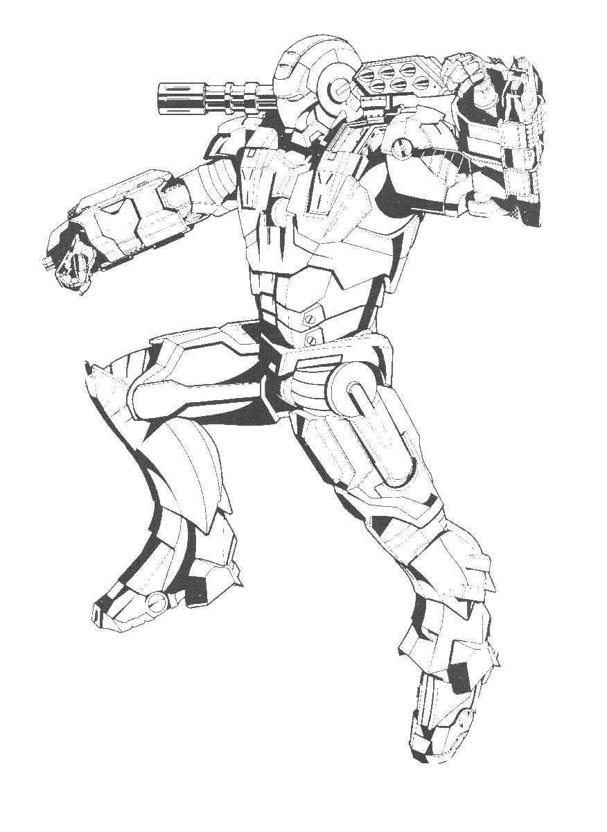 Раскраска Железный человек Скачать Комиксы, Железный человек.  Распечатать ,Комиксы,