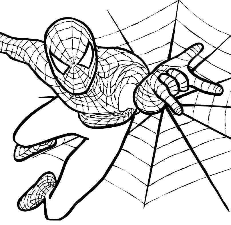 Раскраска человек паук Скачать тетрадь, ноты, цифры.  Распечатать ,тетрадь,