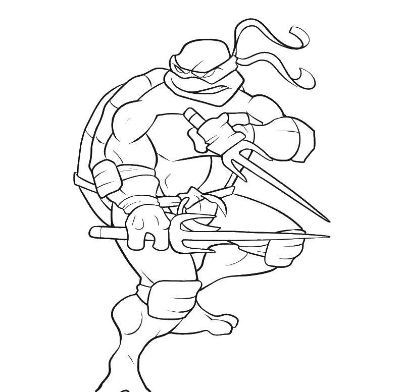 Раскраска Черепашки ниндзя рафаэль Скачать черепашки ниндзя, Рафаэль.  Распечатать ,черепашки ниндзя,