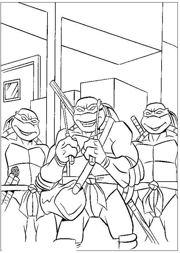 Название: Раскраска Черепашки ниндзя. Категория: черепашки ниндзя. Теги: черепашки ниндзя.