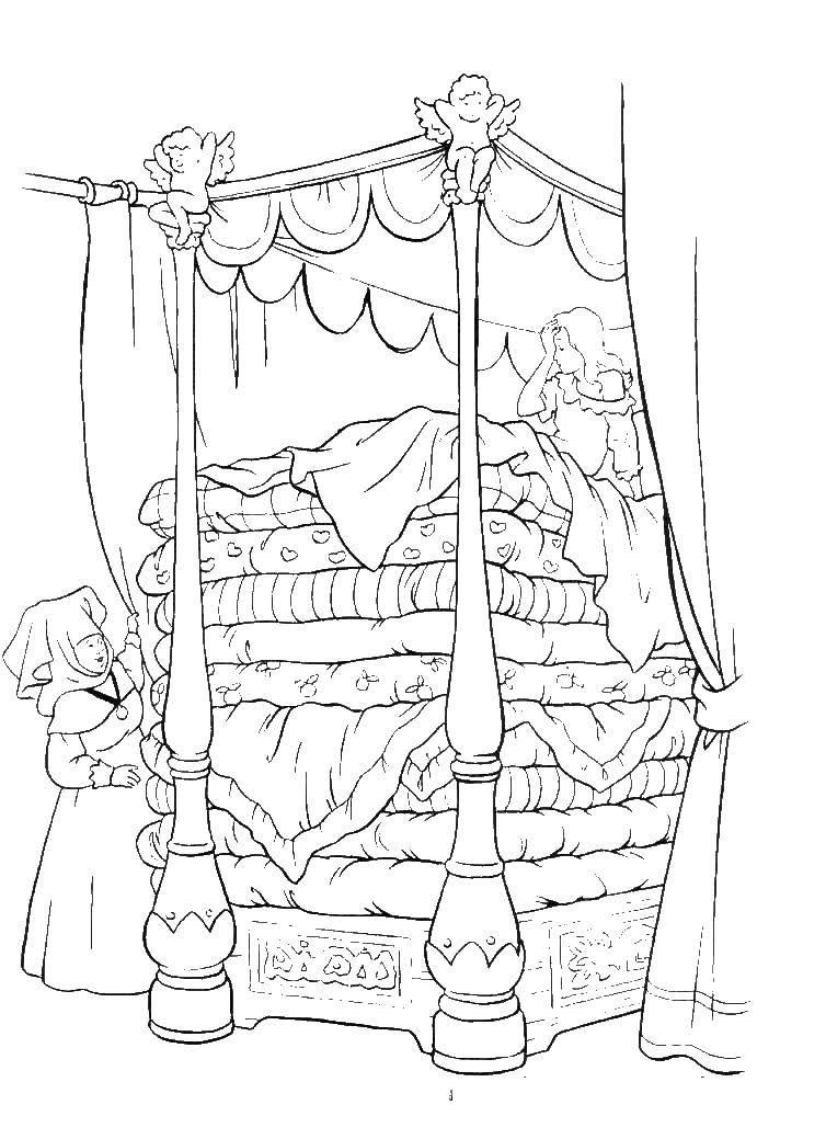 Раскраска принцесса на горошине Скачать Титаник.  Распечатать ,раскраски,