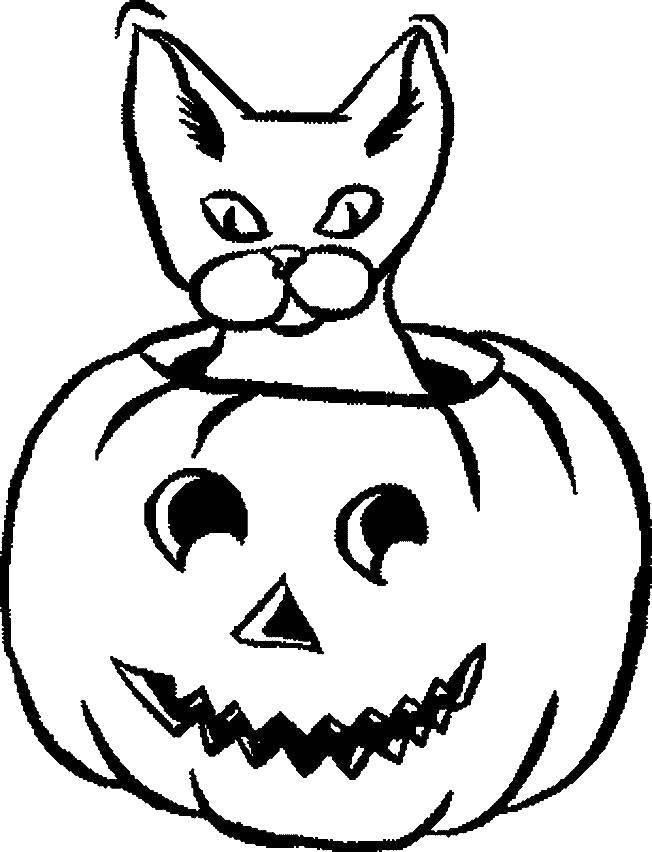Раскраска тыква на хэллоуин Скачать минни, платье, бантик.  Распечатать ,микки маус,