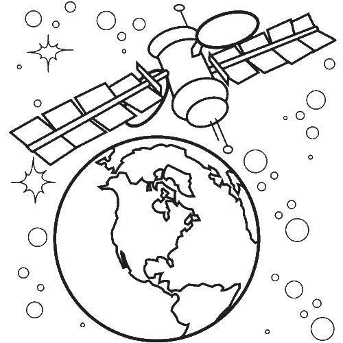 Раскраска инопланетяне Скачать ,Космос,.  Распечатать