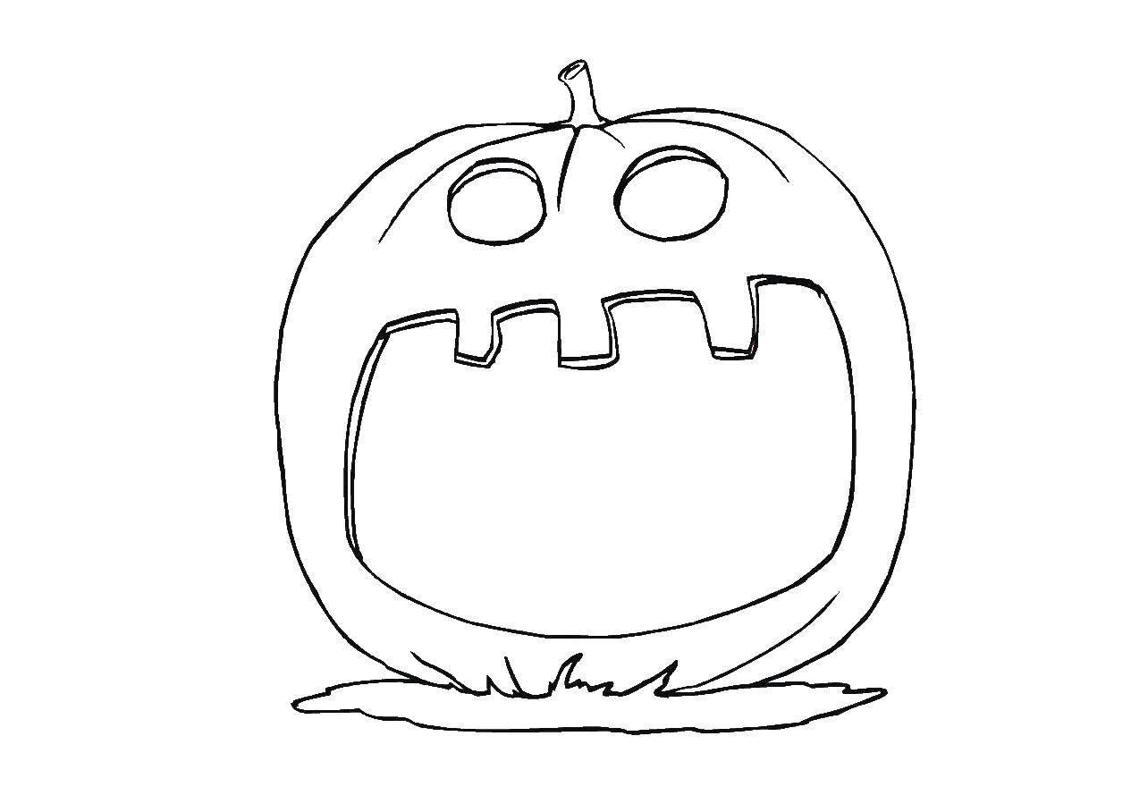 Раскраска Тыква на хэллуин Скачать тыква, хэллоуин.  Распечатать ,тыква на хэллоуин,