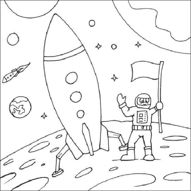Раскраска космос Скачать поросенок, ванна, утёнок.  Распечатать ,Ванная комната,