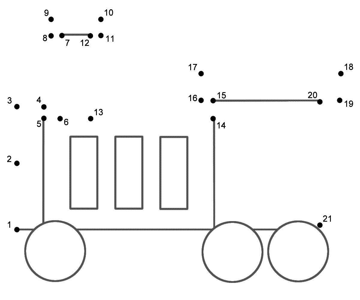 Название: Раскраска Нарисуй по цифрам. Категория: Транспорт на английском. Теги: Транспорт, поезд, рельсы.