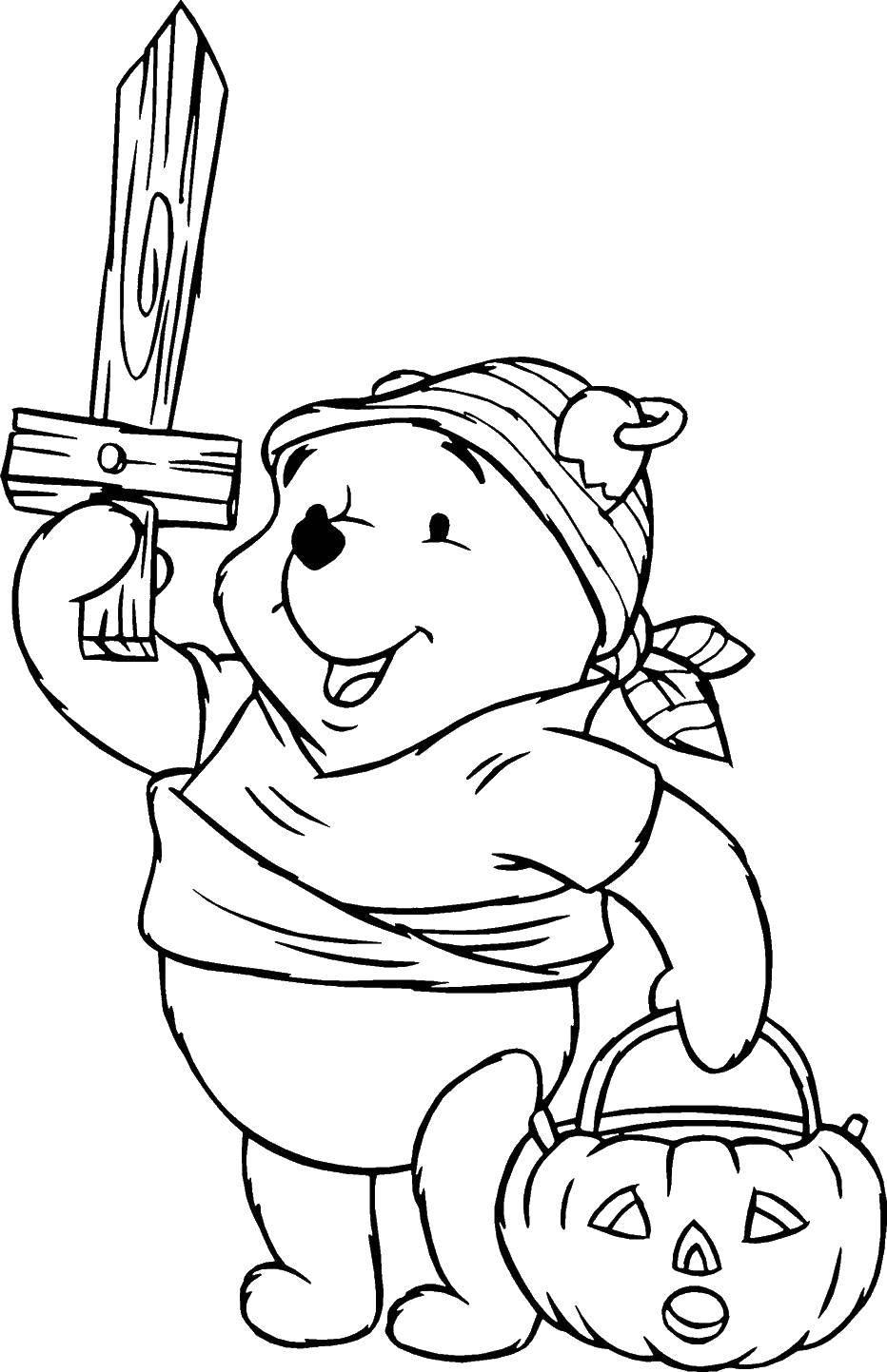Раскраска Диснеевские раскраски Скачать заяц, волк, мультик.  Распечатать ,мультики,