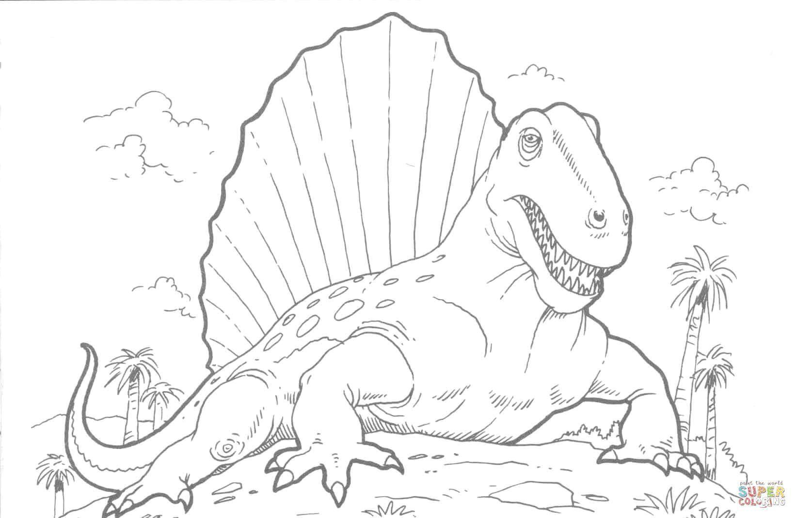 Раскраска Древний ящер Скачать Динозавры.  Распечатать ,динозавр,