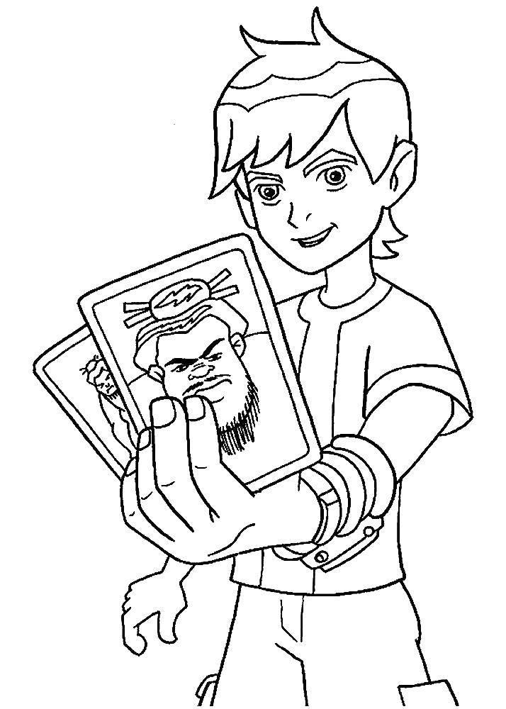 Раскраска Бен 10 инопланетный герои Скачать бен, мультик.  Распечатать ,мультики,