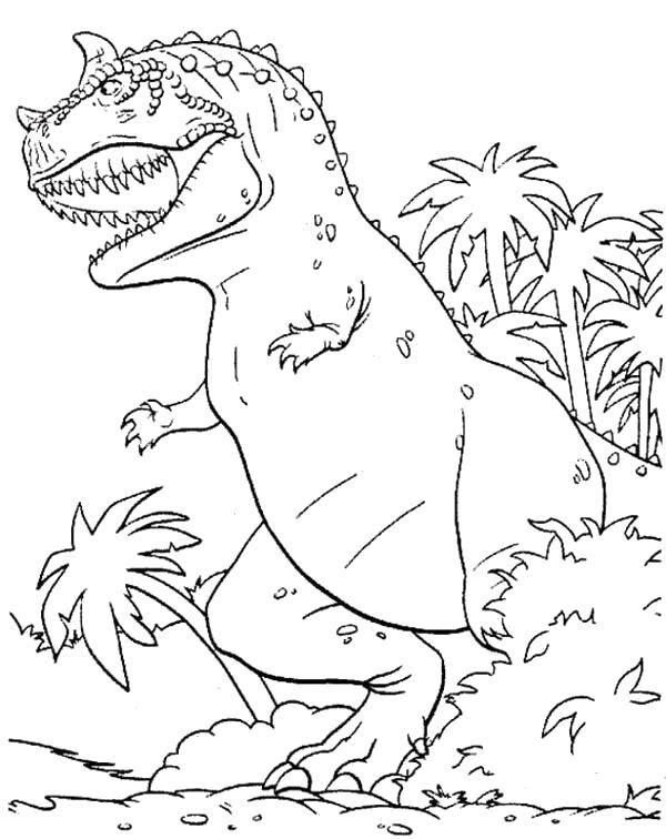 Раскраска Гигантский диноозавр. Скачать Динозавры.  Распечатать ,динозавр,