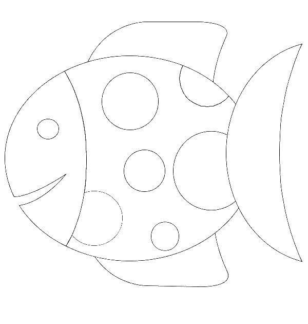Раскраска Рыбка в крапинку Скачать Подводный мир, рыба.  Распечатать ,простые раскраски,