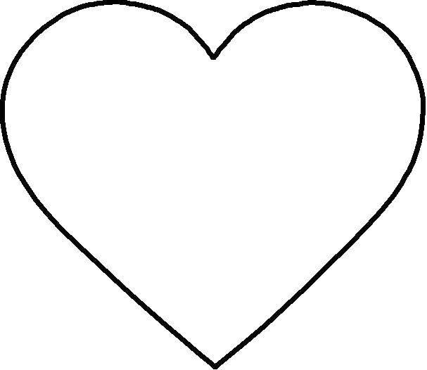 Раскраска Сердце Скачать Сердечко, любовь.  Распечатать ,Сердечки,