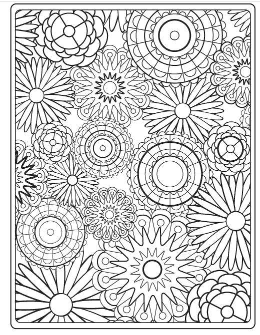 Раскраска Узоры с цветами Скачать игры, игра, майнкрафт.  Распечатать ,майнкрафт,
