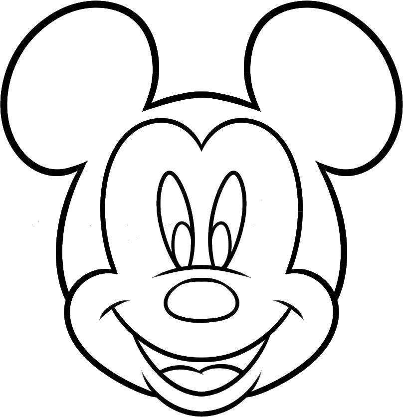 Раскраска Микки маус Скачать Дисней, Микки Маус.  Распечатать ,мультик,