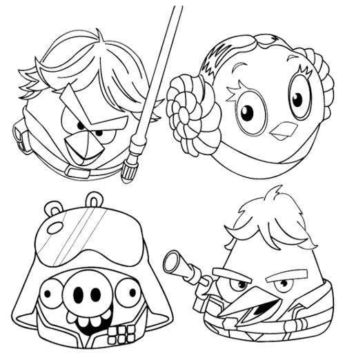 Раскраска Энгри бёрдс звездные войны Скачать Игры, Angry Birds .  Распечатать ,раскраски,